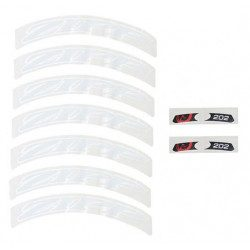Lot d'autocollants Zipp Decal Set pour roue Zipp 202 blanc