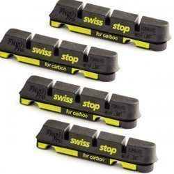 Lot de 4 patins Swissstop Flash Pro Black Prince pour jante carbone
