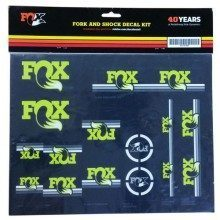Lot d'autocollants Fox Heritage Decal Set lime pour fourche et amortisseur