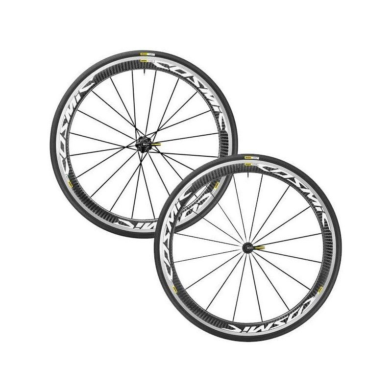 roues route mavic cosmic pro carbon c17 avec pneus. Black Bedroom Furniture Sets. Home Design Ideas
