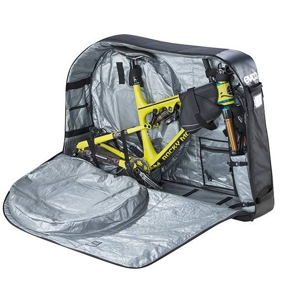 Valise housse v lo evoc bike travel bag multicolor for Housse vtt transport
