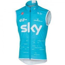 Gilet coupe-vent Castelli Pro Light Wind Sky 2017 Bleu