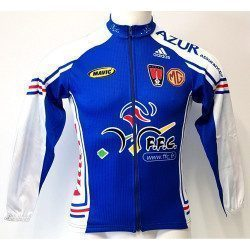 Maillot vélo manches longues Adidas MG Rover Look équipe de France FFC