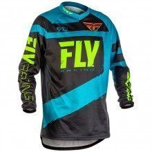 Maillot VTT manches longues Fly Racing F-16 Black-Blue 2018
