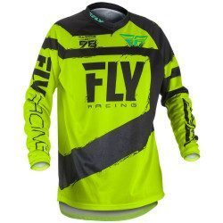 Maillot VTT et BMX manches longues enfant Fly Racing F-16 Yellow 2018